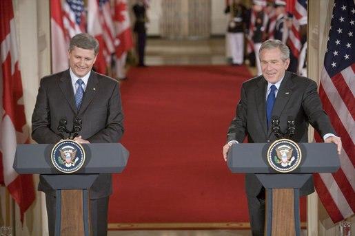 Stephen Harper and George W. Bush July 6 2006