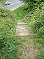 Steps down to Portsdown Hill Road from Candy's Pit Trail - geograph.org.uk - 1286210.jpg