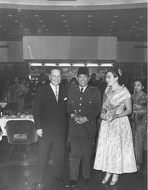 Indonesia–Serbia relations - Josip Broz Tito (left) with Sukarno (center).