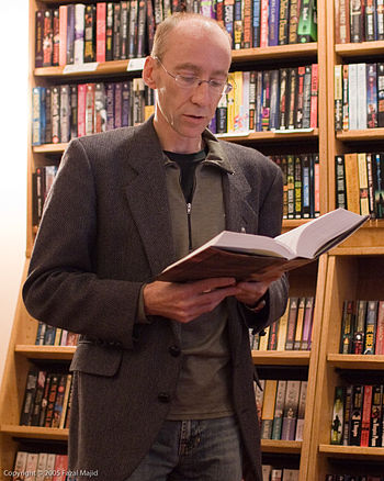 English: Canadian novelist Steven Erikson read...