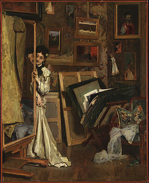 Alfred Stevens (painter) - The Psyché (My Studio), ca. 1871, Princeton University Art Museum