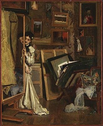 Alfred Stevens (painter) - The Psyché (My Studio), ca. 1871, Princeton University Art Museum