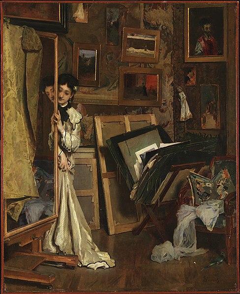File:Stevens, Alfred, The Psyché (My Studio), ca. 1871.jpg