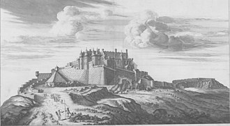 Stirling Castle - Stirling Castle, drawn by John Slezer in 1693, and showing James IV's now-demolished Forework