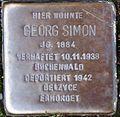 Stolperstein Arnstadt Rosenstraße 10-Georg Simon.JPG