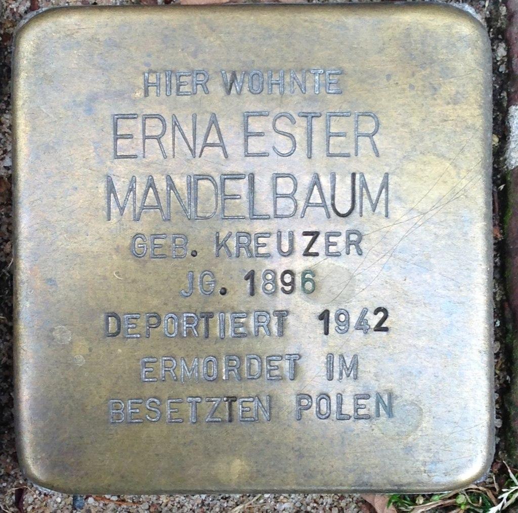 Stolperstein Kleve An der Münze 7-9 Erna Ester Mandelbaum