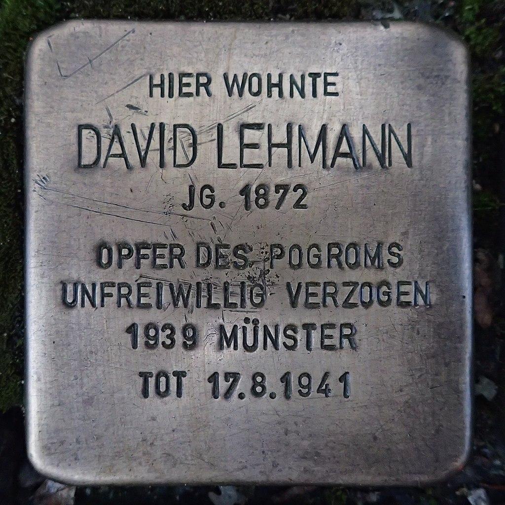 Stolperstein für David Lehmann