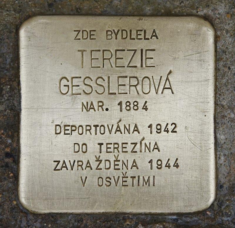 Stolperstein für Terezie Gesslerova.JPG