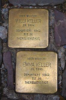 Stolpersteine - Bacharach - Langstraße 43 - Willi, Emma Keller.jpg