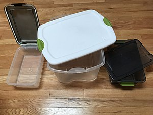 Food storage container - Home storage containers with latched lids