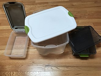 Plastic container - Home storage containers with latched lids