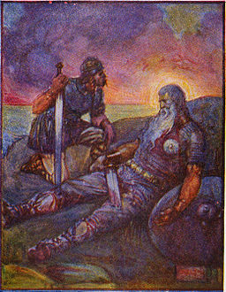 Stories of beowulf wiglaf and beowulf, via Wikimedia Commons
