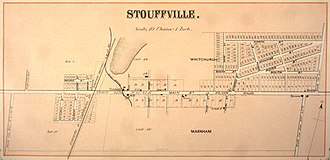 Whitchurch-Stouffville - Map, Village of Stouffville, 1880