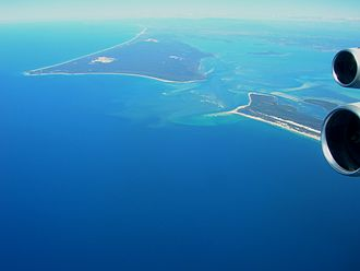 Amity, Queensland - The South Passage, with  Amity located on the lower, right side of North Stradbroke Island, the island at the top of image