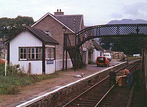 Strathcarron railway station - Strathcarron station, August 1980