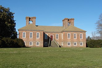 Stratford Hall (plantation) - Back side of Stratford in 2012