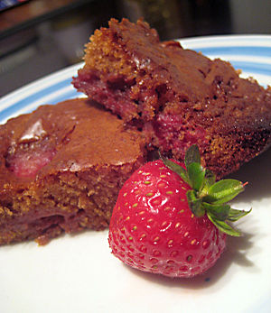 Strawberry & Chocolate Brownies.