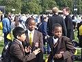 Students of St Bonaventure's Catholic Comprehensive School during a school trip at Hyde Park.jpg