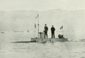 Submarine Gymnote with crew - Page's Magazine 1902.png