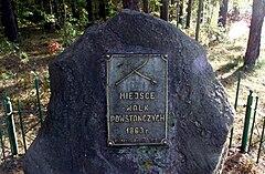 Kamień upamiętniający zwycięską potyczkę stoczoną podczas