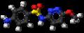 Sulfamethoxypyridazine molecule ball.png