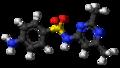 Sulfisomidine molecule ball.png