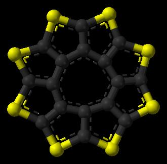 Circulene - Image: Sulflower from xtal 3D balls