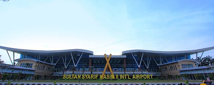 The Facade of Sultan Syarif Kasim II International Airport