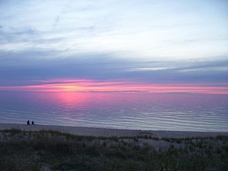 Lake Michigan - Sunset at Nordhouse Dunes