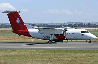Australian Border Force - A contracted Surveillance Australia Dash 8 aircraft (Coast Guard).