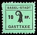 Switzerland Basel 1942 Tourism revenue 10rp - 1 square period.jpg