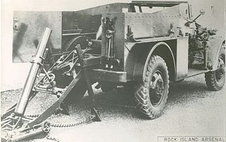 Mortar carrier combat vehicle carrying a mortar as its primary weapon