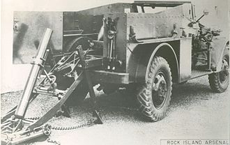 Mortar carrier - T5E1 4.2inch mortar carrier variant of the M3 Scout Car.