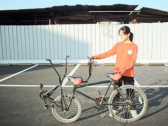 Tandem bicycle - Independent tandem cycle.
