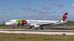 TAP A321NEO just arrived at Lisbon airport (47555944511).jpg