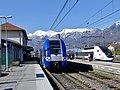 TER et TGV à Albertville en fin d'hiver (2018).JPG