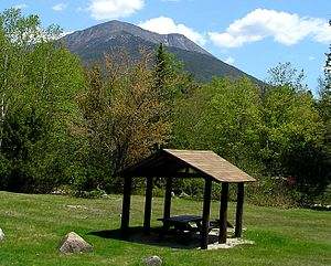 Baxter State Park - Katahdin rises above Katahdin Stream Campground in Baxter State Park.