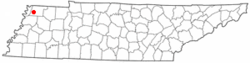 Location of Hornbeak, Tennessee