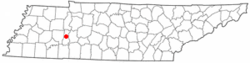 Location of Parsons, Tennessee