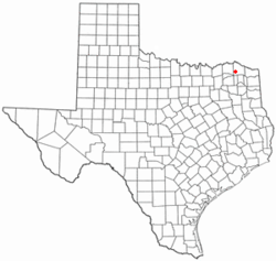 Location of Bogata, Texas