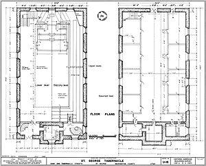 St. George Tabernacle - Floor plan of the St. George Tabernacle.