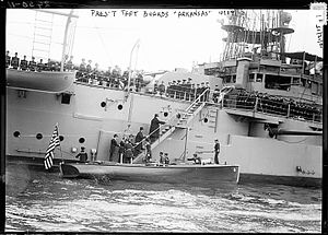 USS Arkansas (BB-33) - President Taft boarding Arkansas on 14 October 1912