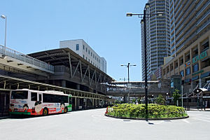 Takatsuki Station (Osaka) - Station building (north side) and bus station