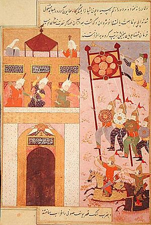Konye-Urgench - Timurlane's army besieging the city of Urgench in the 14th century.