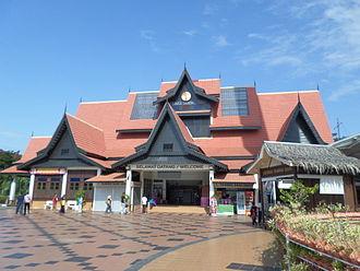 Taming Sari Tower - Ticketing counter building