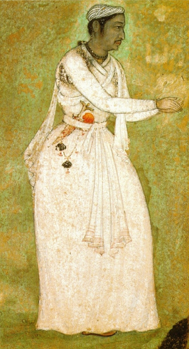 Tansen of Gwalior. (11.8x6.7cm) Mughal. 1585-90. National Museum, New Delhi.