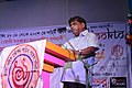 Tapodhir Bhattacharjee speaking during Language Martyr Day meeting at Silchar station in 2018 09.jpg