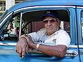Taxi Driver in Classic Car - Habana Vieja - Havana - Cuba.JPG
