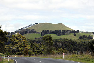 Flagstaff War - Te Ahuahu, looking from Waimate north