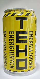 A can of TEHO Energy drink